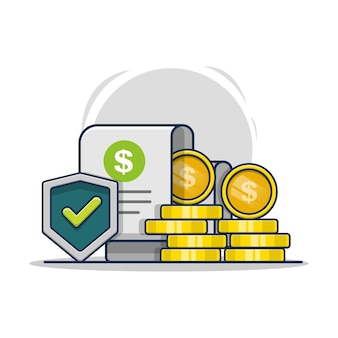 Ilustración del icono de seguro de garantía financiera