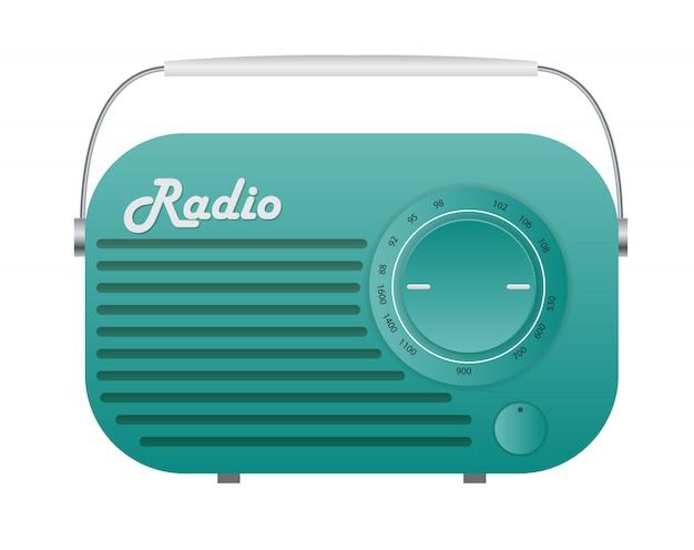 Ilustración de icono de sintonizador de radio antiguo