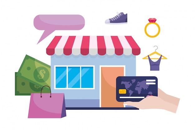 Ilustración del icono de tienda