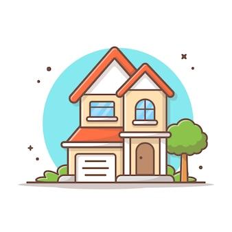 Ilustración de icono de vector de construcción de viviendas. concepto de icono de edificio y punto de referencia blanco aislado