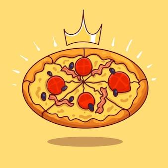 Ilustración de icono de vector de dibujos animados de sándwich de tocino cuadrado largo real