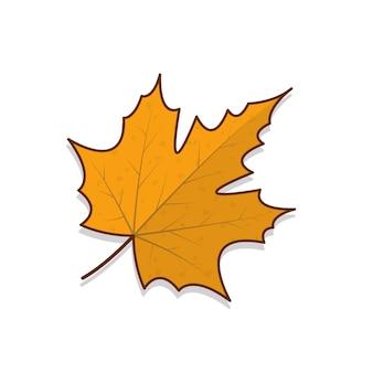 Ilustración de icono de vector de hojas de otoño. hojas de otoño o icono plano de follaje de otoño