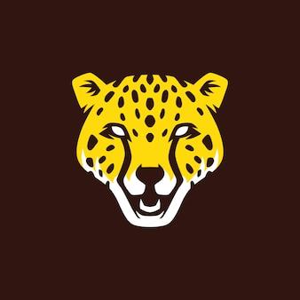 Ilustración de icono de vector de logotipo de cabeza de pantera
