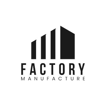 Ilustración de icono de vector de logotipo de fábrica