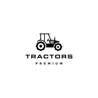 Ilustración de icono de vector de logotipo de tractor