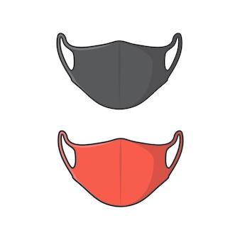 Ilustración de icono de vector de máscara facial. icono plano de protección antivirus