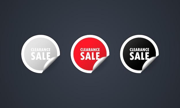 Ilustración de icono de venta de liquidación