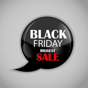 Ilustración de icono de venta de viernes negro.
