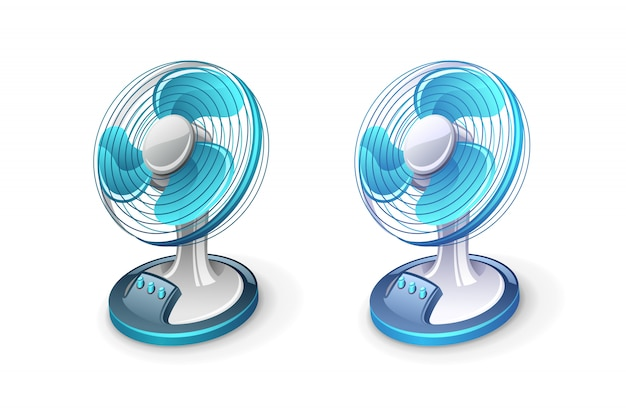 Ilustración del icono de ventilador eléctrico