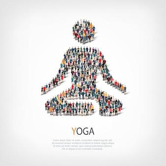 Ilustración del icono de yoga