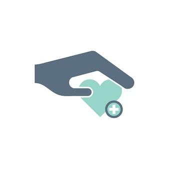 Ilustración de iconos de ayuda de donación