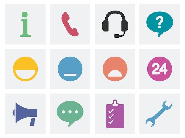 Ilustración de los iconos de concepto de comunicación