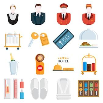 Ilustración de los iconos del hotel.