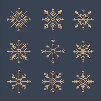Ilustración de iconos lindos copo de nieve