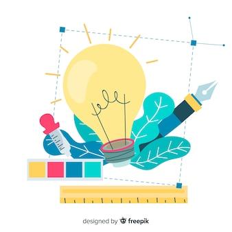 Ilustración idea diseño gráfico