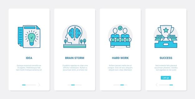 Ilustración de idea de negocio de lluvia de ideas de éxito.