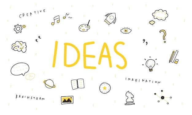 Ilustración de ideas de bombilla