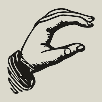 Ilustración de identidad corporativa de negocios de logotipo de mano