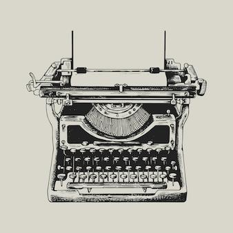 Ilustración de identidad corporativa de negocios de logotipo de máquina de escribir retro