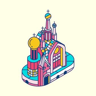 Ilustración de la iglesia del salvador sobre blood russia