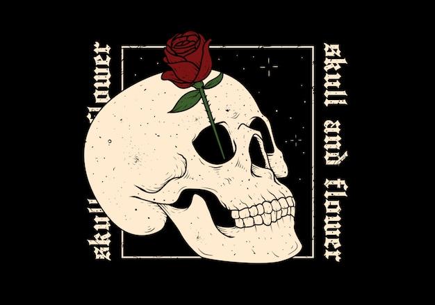 Ilustración de la ilustración de la flor del cráneo