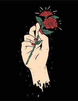 Ilustración de ilustración de flores de mano