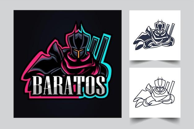 Ilustración de ilustraciones de esport guerrero