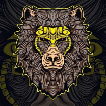 Ilustración de ilustraciones de león