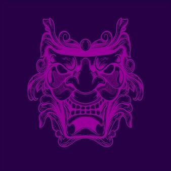 Ilustración de ilustraciones de máscara de demonio