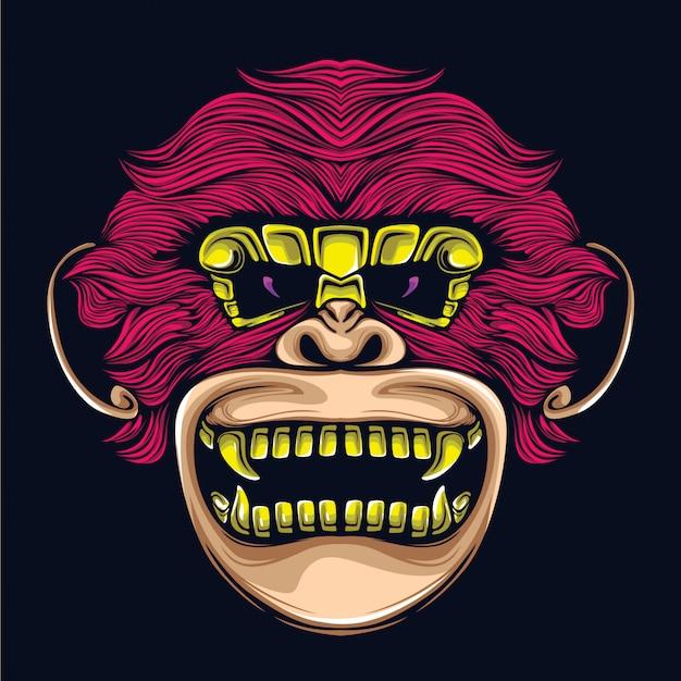 Ilustración de ilustraciones de mono