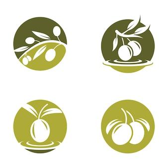 Ilustración de imágenes de logotipo de oliva diseño
