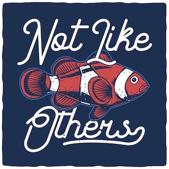 Ilustración impresionante de pez payaso