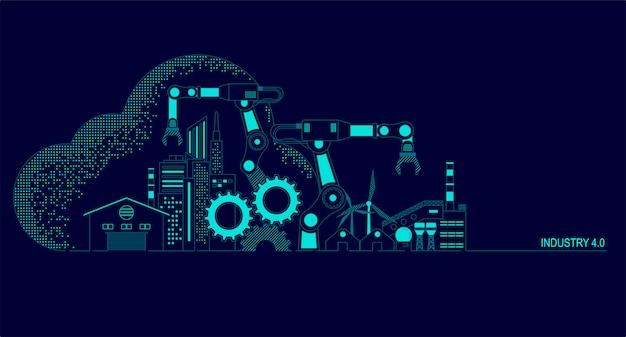 Ilustración de la industria 4.0