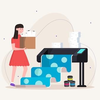 Ilustración de la industria de la impresión