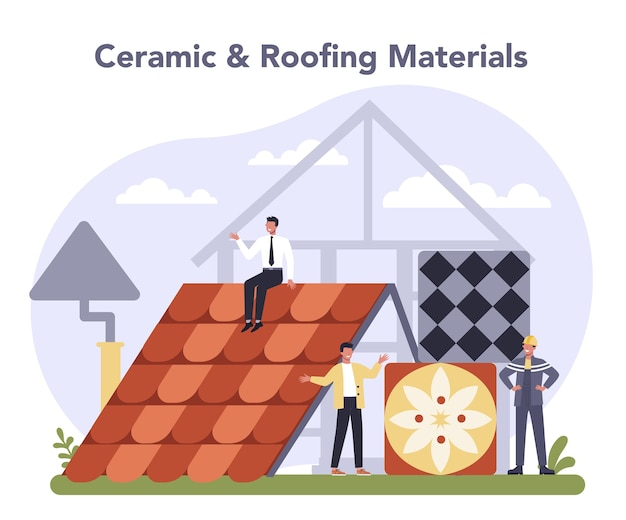 Ilustración de la industria de productos de construcción