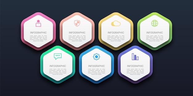 Ilustración de infografía de línea de tiempo