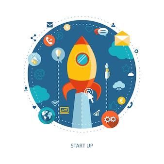 Ilustración de infografías de negocios modernos