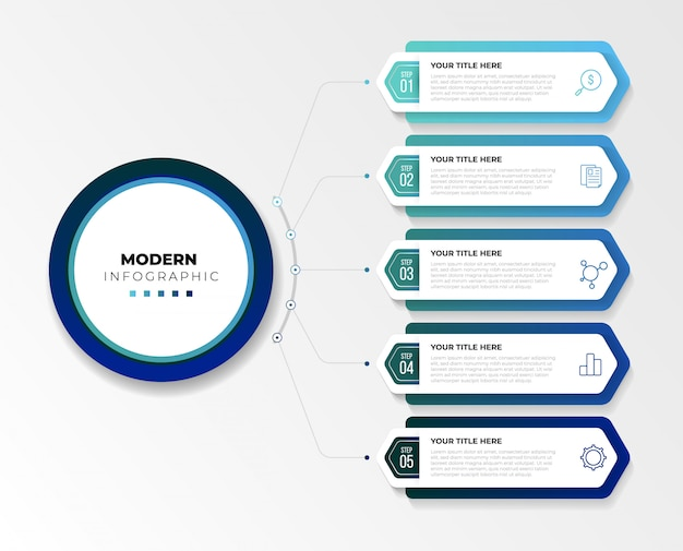 Ilustración de infografías de negocios