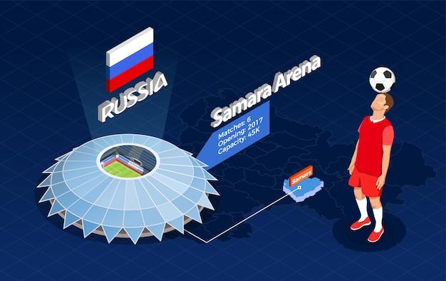 Ilustración infográfica de la copa de fútbol