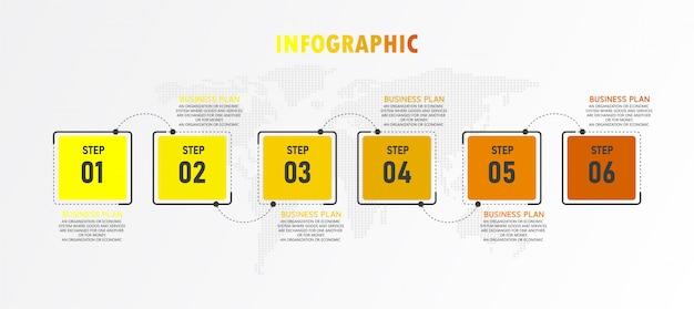 La ilustración infográfica se puede utilizar para presentaciones, procesos, diseños, gráficos de datos. negocio educativo