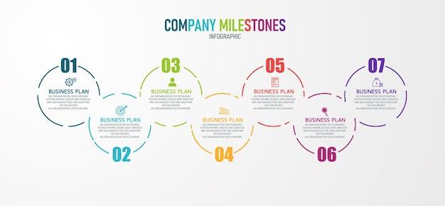 Ilustración infográfica se puede utilizar para procesos, presentaciones, diseño, banner, gráfico de información hay 7 pasos o capas.