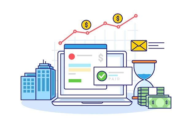 Ilustración del informe financiero