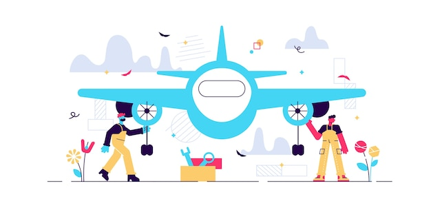 Ilustración de ingeniero aeroespacial.