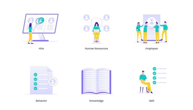 Ilustración de integración empresarial. gestión empresarial y estrategia corporativa