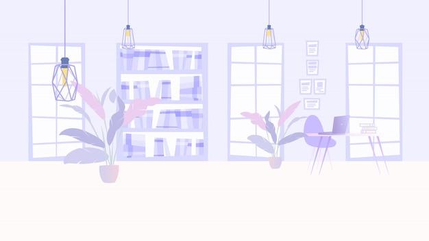 Ilustración interior cozy office business company
