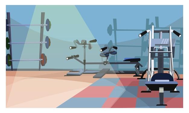 Ilustración interior de gimnasio