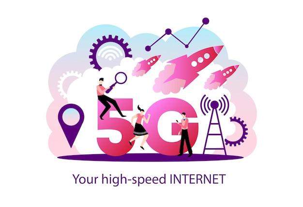 Ilustración de internet 5g