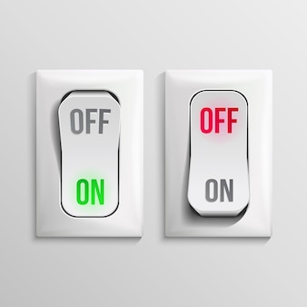 Ilustración del interruptor de palanca