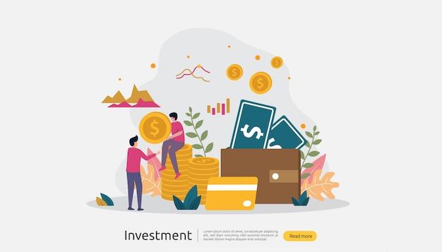 Ilustración de inversión empresarial