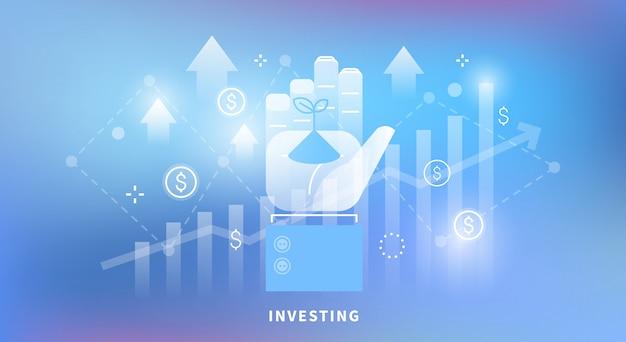 Ilustración de invertir
